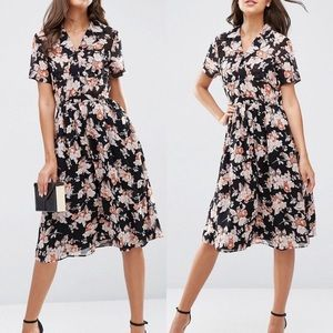 ASOS TALL Tea Dress in Floral Print, US size 2